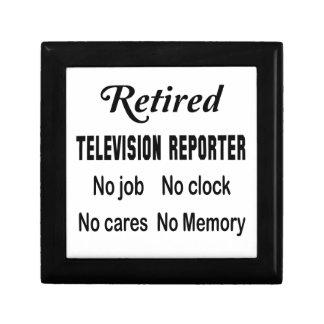 Retired Television reporter No job No clock No car Jewelry Box