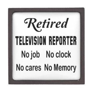Retired Television reporter No job No clock No car Keepsake Box