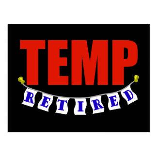 Retired Temp Postcard