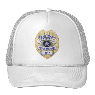 Retired - The Thin Blue Line Badge Hats