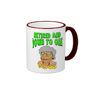 Retired To One Boss (2) Ringer Mug