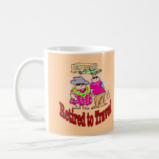 Retired to Travel Camper Couple Coffee Mug