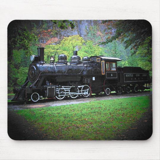 Retired Train Engine From Seattle Mouse Pad