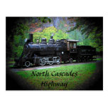 Retired Train Engine From Seattle Postcard