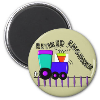 Retired Train Engineer Gifts 2 Inch Round Magnet