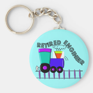 Retired Train Engineer Gifts Keychain