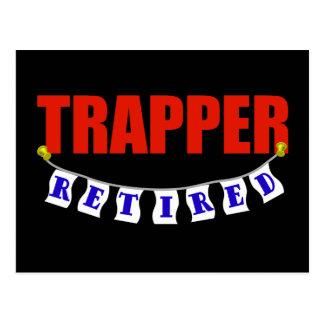 Retired Trapper Postcard