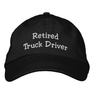 Retired Truck Driver Embroidered Baseball Cap