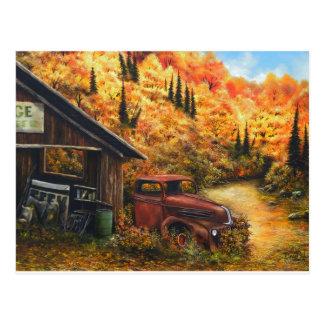 Retired Truck Postcard