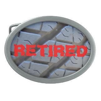 Retired Truck Tire Tread Belt Buckle