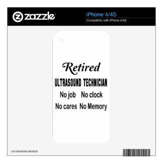 Retired Ultrasound Technician No job No clock No c Decals For The iPhone 4S