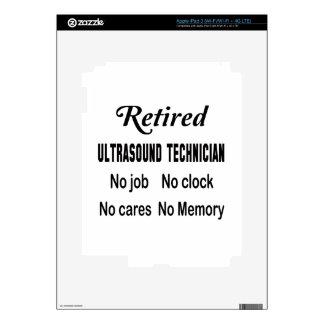 Retired Ultrasound Technician No job No clock No c iPad 3 Decal