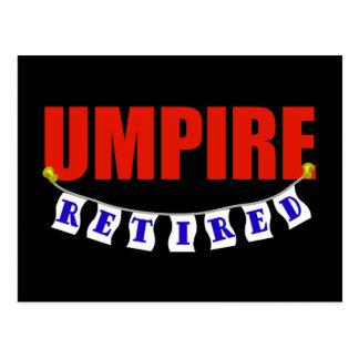 Retired Umpire Postcard