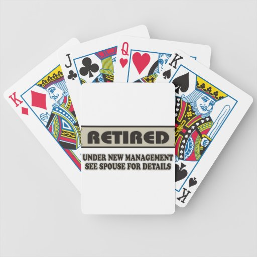 RETIRED. Under New Management Bicycle Playing Cards