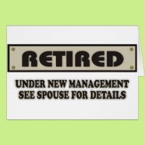 RETIRED. Under New Management Card