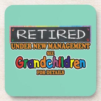 Retired Under New Management Drink Coaster