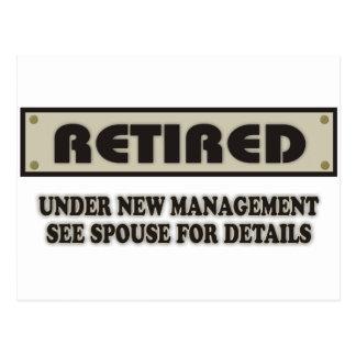RETIRED. Under New Management Postcard