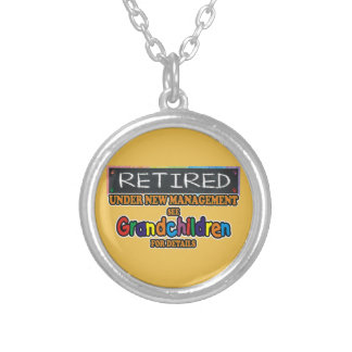 Retired Under New Management Silver Plated Necklace