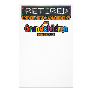 Retired Under New Management Stationery