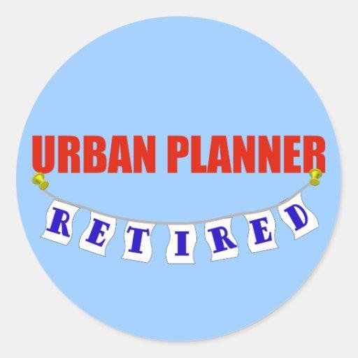Retired Urban Planner Classic Round Sticker