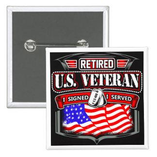 "Retired Veteran 2"" pin"
