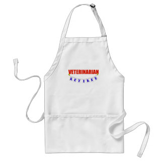 Retired Veterinarian Adult Apron