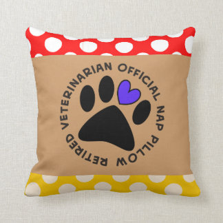 Retired Veterinarian Appreciation Throw Pillow