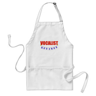 Retired Vocalist Adult Apron
