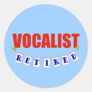 Retired Vocalist Classic Round Sticker