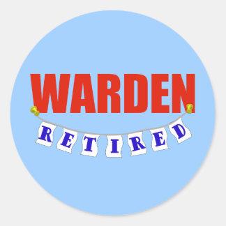 Retired Warden Classic Round Sticker