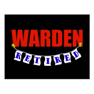 Retired Warden Postcard