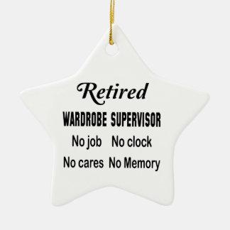 Retired Wardrobe Supervisor No job No clock No car Ceramic Ornament