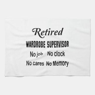 Retired Wardrobe Supervisor No job No clock No car Towel