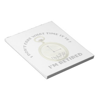 Retired watch 5.5x6 NOTEPAD