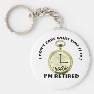 Retired watch basic round button keychain