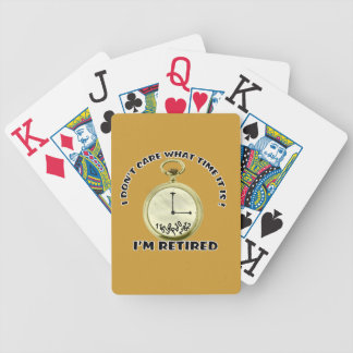 Retired watch bicycle playing cards