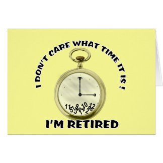 Retired watch card
