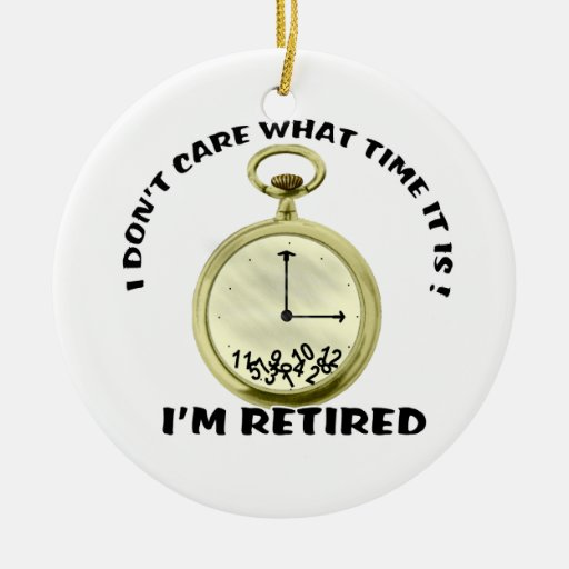 Retired watch Double-Sided ceramic round christmas ornament