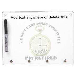 Retired watch dry erase board with keychain holder