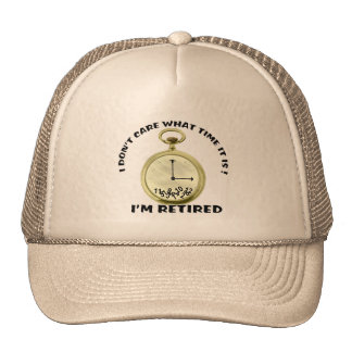 Retired watch trucker hat