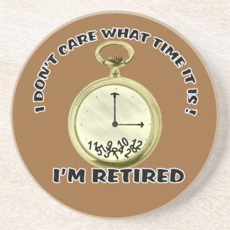 Retired watch sandstone coaster