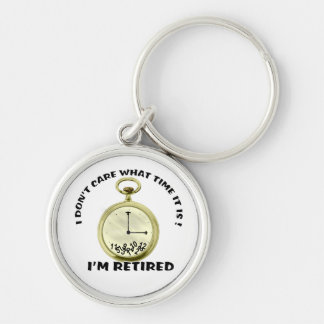 Retired watch Silver-Colored round keychain