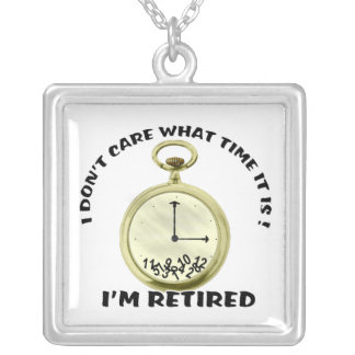 Retired watch square pendant necklace