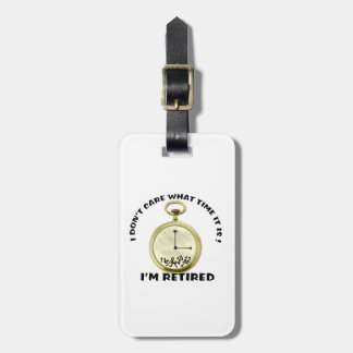 Retired watch tag for luggage