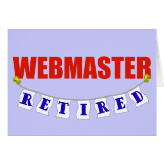 Retired Webmaster Card