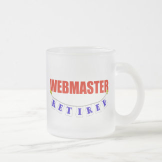 Retired Webmaster Frosted Glass Coffee Mug
