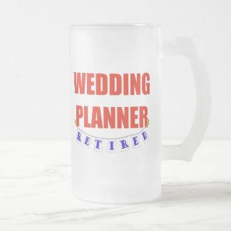 Retired Wedding Planner Frosted Glass Beer Mug
