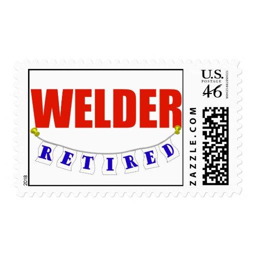 Retired Welder Postage Stamps