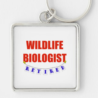 Retired Widlife Biologist Keychain