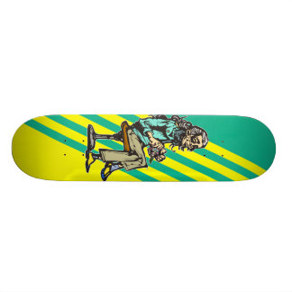 Retired Woman Skateboard